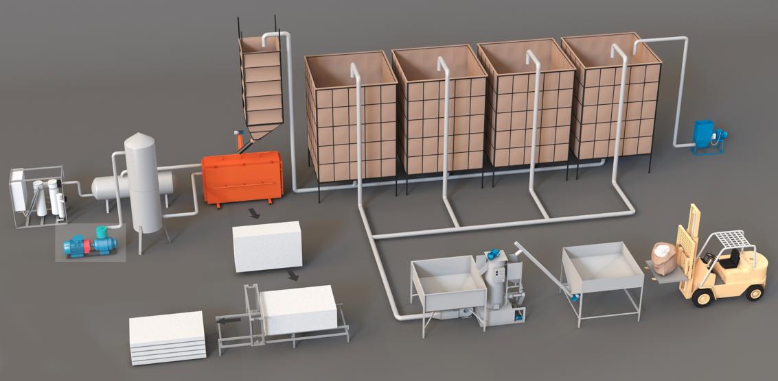 Оборудование для производства пенополистирола
