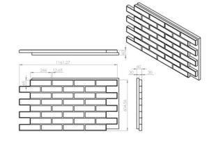 Фасадные термопанели размеры
